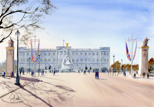 Buckingham palace painting