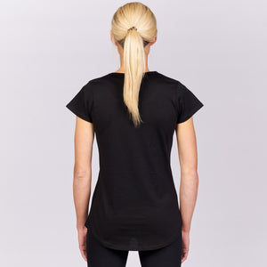 VICTRESS LMSR SCOOP NECK TEE - BLACK