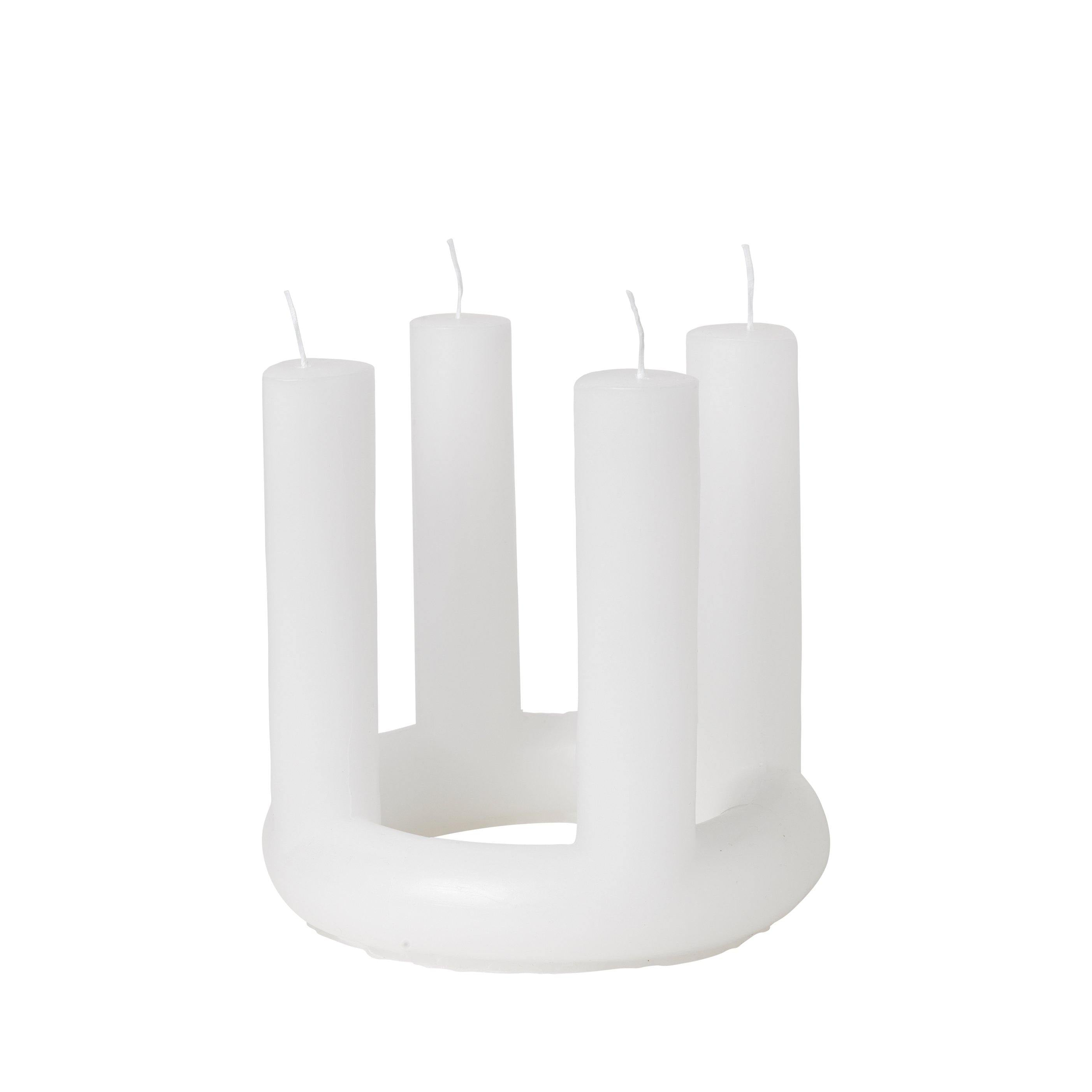 Adventskerze Lucia pure white