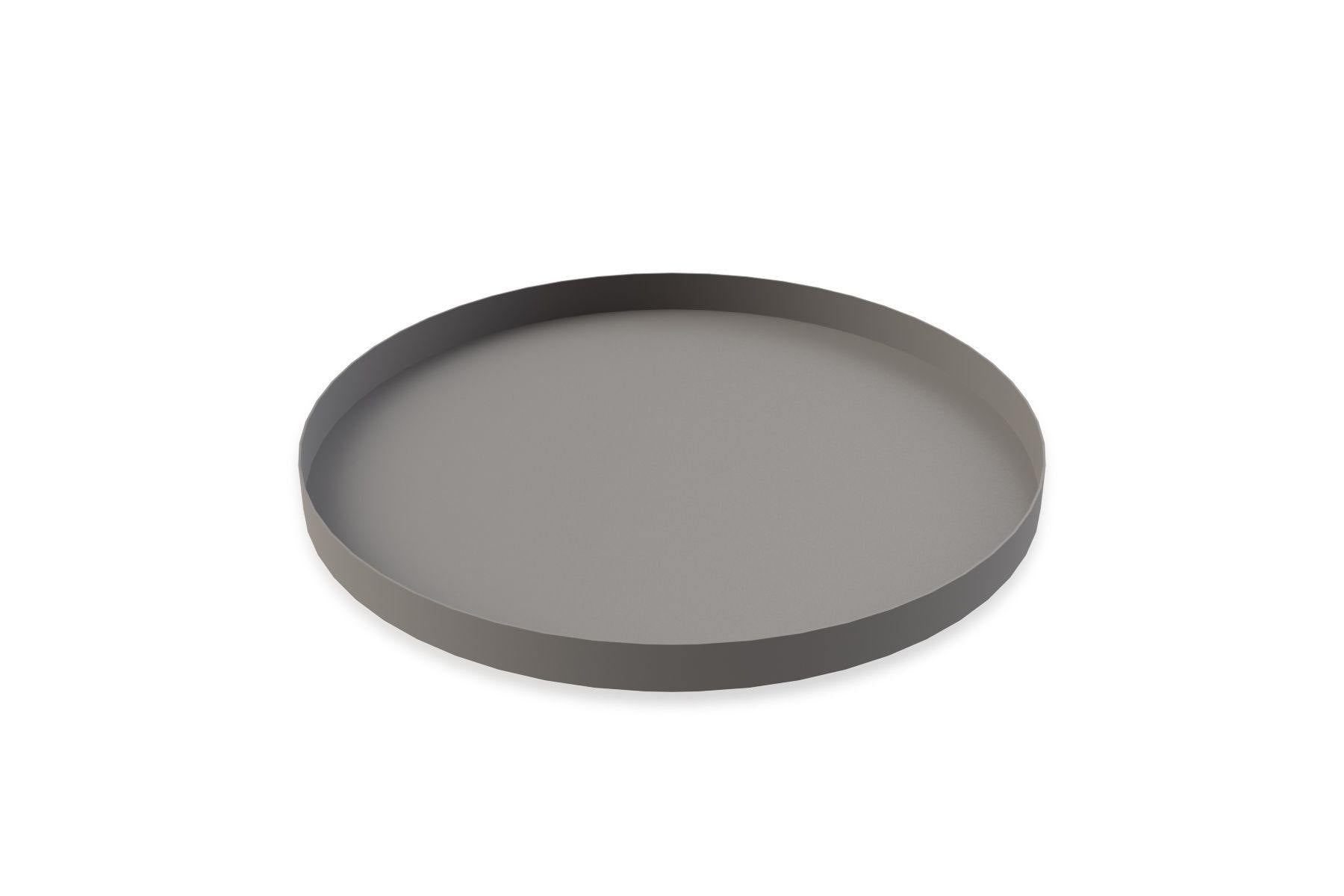 Tray Circle 40x2cm Grey