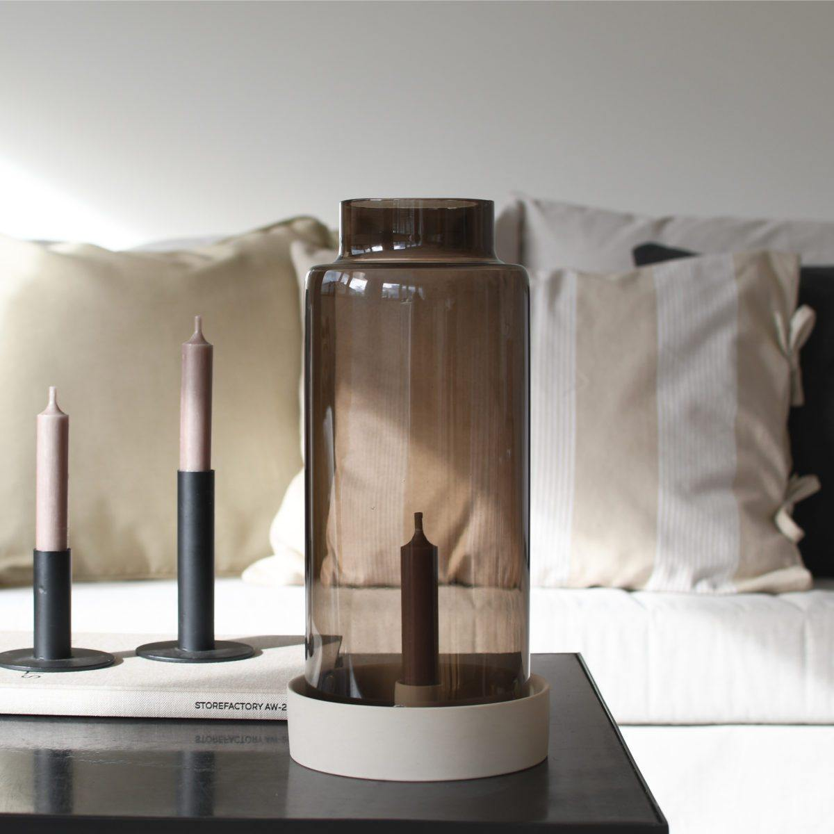 Storm Beige lantern/candle stick bottom