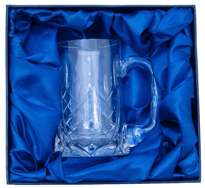Engraved Lead Crystal Tankard
