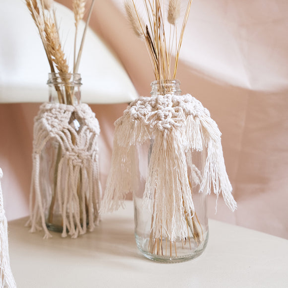 Macrame Bottle Wraps