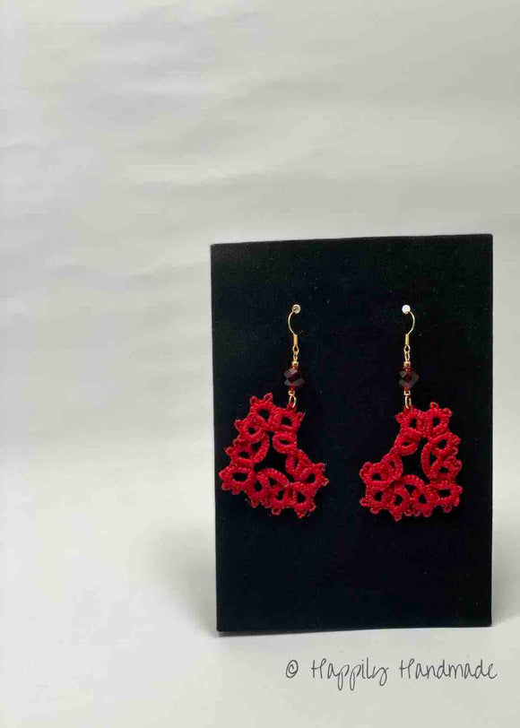 50% OFF!!! Tatted Lace Earrings