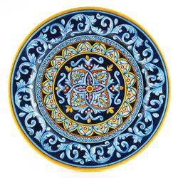Handmade Italian pottery - Geometrico charger by D&G Design