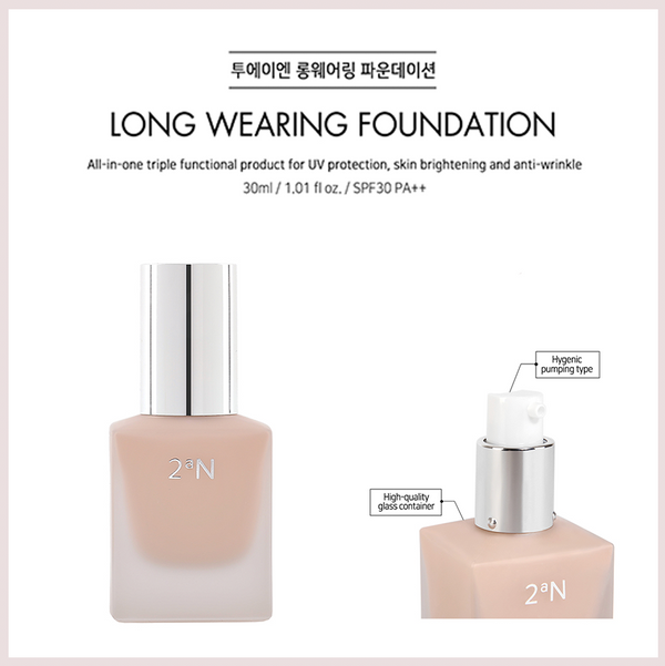 2aN Long Wearing Foundation(SPF 30 PA++)