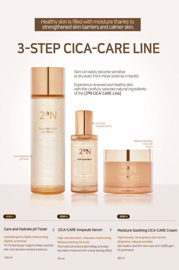 2aN Cica Care Set(Toner+Serum+Cream)