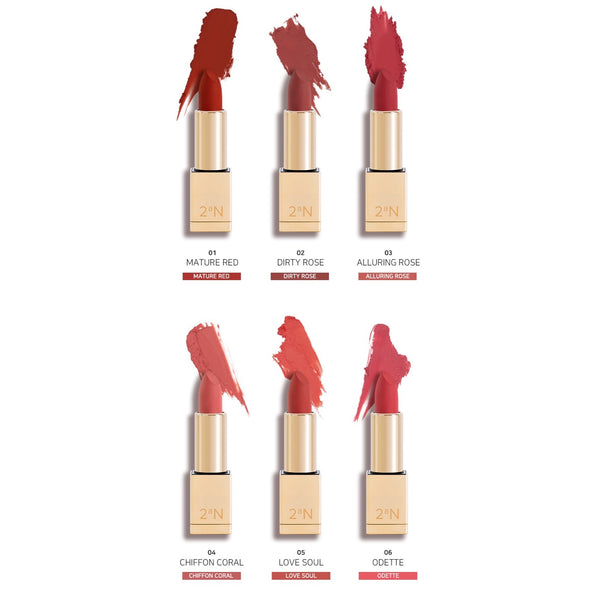 2aN Blando Velvet Rouge Lipstick (6colors)