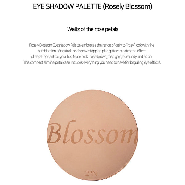 2aN Rosely Blossom Eyeshadow Palette