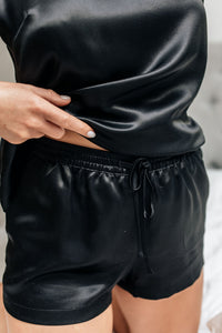 Natural Silk Shorts Black Night
