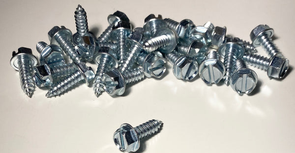 #14 Bright Zinc Finish License Plate Screws (30 Pcs)