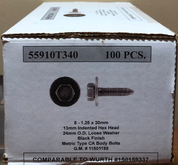 Metric Type CA Body Bolts for G.M #1501188 (Box of 100)