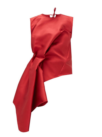 Waterfall Red Satin Top