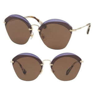 Violet Oval Sunglasses