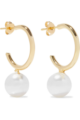 Swarovski Pearl Gold Earrings