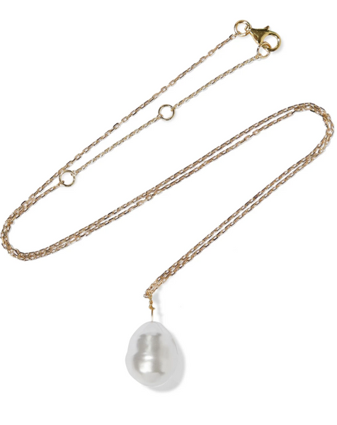 Swarovski Pearl Gold Necklace