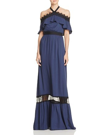 Mitsy Off-the-Shoulder Maxi Dress