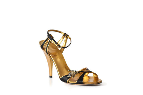 Satin Strappy Bee Jewel Sandals