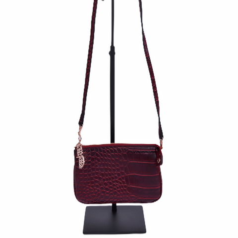 Burgundy Crocodile Handbag