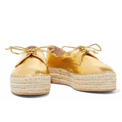 Metallic Espadrille Brogues