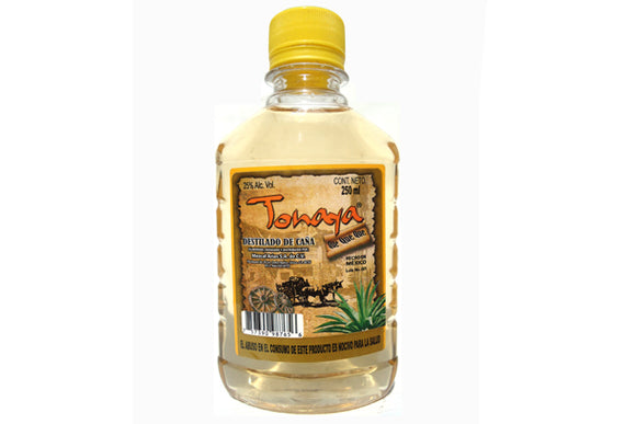Aguardiente Mini  Licor De Caña Tonayan Amarillo Pet 250ml