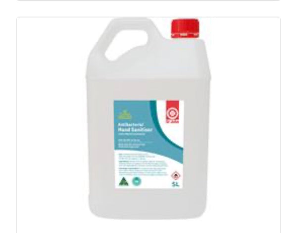 St John Ambulance (vic) Hand Sanitiser - Liquid 5 Litre $88 Australian Made - IN STOCK