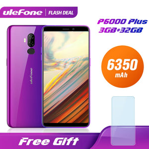 Ulefone P6000 Plus 6350mAh Smartphone Android 9.0 6inch HD+ Dual Camera Ouad Core 3GB 32GB Cell Phone 4G Mobile Phone Android - Global Mobile