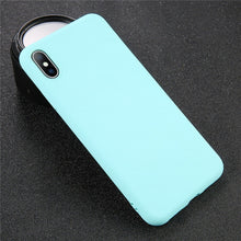 Charger l'image dans la visionneuse de la galerie, USLION Coque en silicone de couleur unie pour iPhone XS 11 Pro MAX XR X XS Max Coque de téléphone Candy pour iPhone 11 7 6 6S 8 Plus Soft Cover - Global Mobile