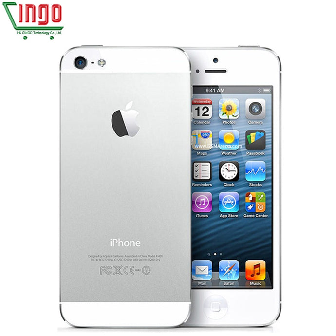 Unlocked Original iPhone 5 16GB/32GB/64GB ROM Dual-core 3G 4.0 inches Screen 8MP Camera iCloud WIFI GPS IOS OS Cell Phones - Global Mobile