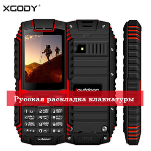 XGODY ioutdoor T1 2G Feature Phone IP68 Shockproof cep telefonu 2.4''128M+32M GSM 2MP Back Camera FM Telefon Celular 2G 2100mAh - Global Mobile