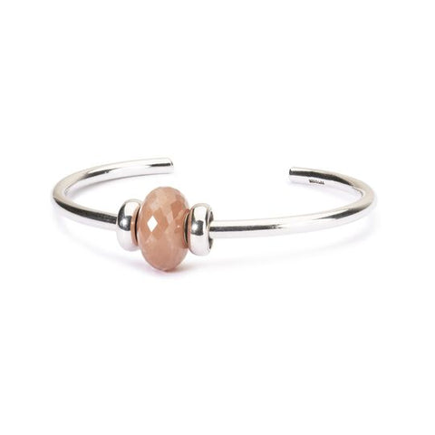 Feldspar Moonstone Silver Bangle