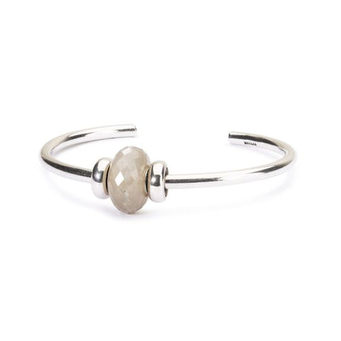 Grey Moonstone Silver Bangle