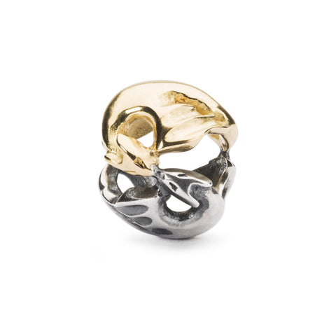 Dancing Dragons, 18K Gold/Silver