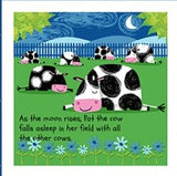 Best Friends Children's Soft Cloth Book Panel To sew 36 x 44 inches farm animals colors blue red orange yellow pink white black