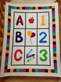 ABC 123 Baby Quilt Pattern from Bound To Be Quilting