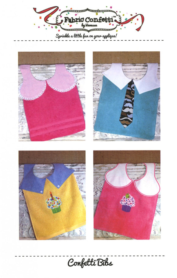 Baby Bib Pattern by Vanessa for Fabric Confetti Complete Instructions