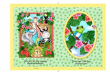 Bazoople Friends Waterfall Cotton Cloth Book Panel  15 1 /4 inches by 10 inches to sew.  Jungle animals in bright colors.