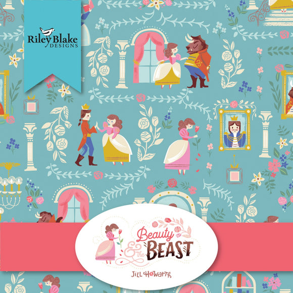 Beauty And The Beast Children's Fairy Tale Cotton Fabric 2 1/2 Inch Strips From Riley Blake