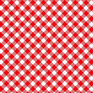 Best Friends Farm Children's Cotton Fabric Red Gingham Check 44 Inches Wide