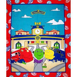 Chuggington Train Panel 35 x 42 Inches Red Blue Green Yellow White