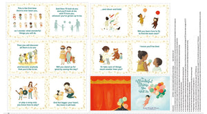 Dream World Children's Cotton Soft Cloth Book Panel To Sew 12 Pages In Colors of Orange, Yellow, Brown, Blue and Green