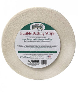 Heirloom Fusible Blended Batting Strips 2 1/4 inches 25 yards