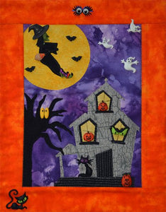 Haunted Halloween Mini Button Quilt Pattern Buttons Included by Mouse Blankets