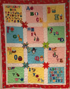 Children's Alphabet Quilt Kit 35 x 35 Inches Alphabet Panel from Quilting Treasures