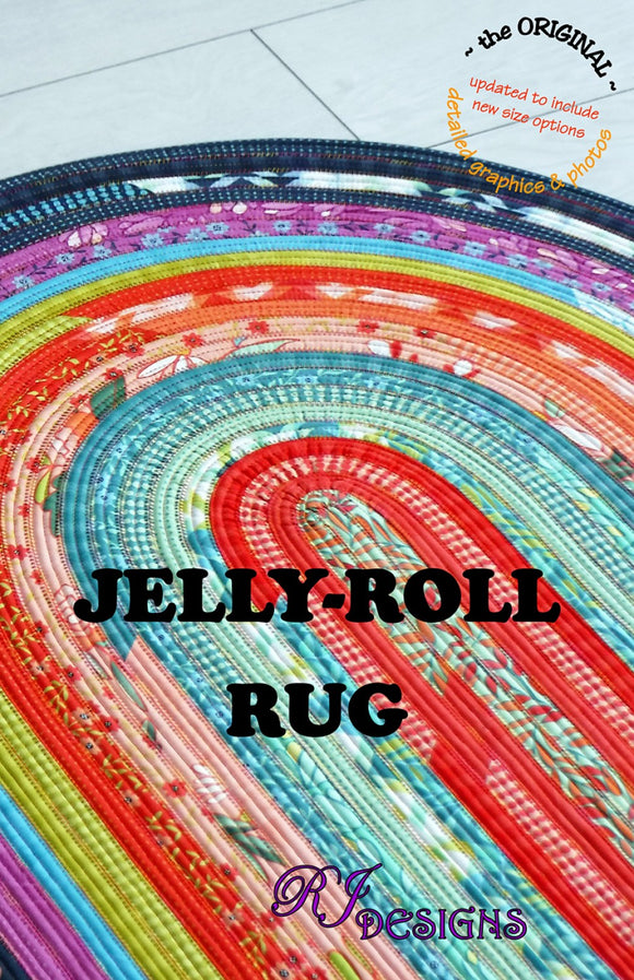 Jelly Roll Rug Pattern from R J Designs Complete Pattern