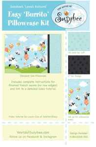 Lewe's Balloons Easy Burrito Pillowcase Fabric Kit from Susybee Collection