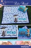 Let's Read Blanket and Pillow Pattern Includes Applique Pattern  by McKay Manor Musers