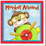 Monkey Around Children's Cloth Book Panel To Sew