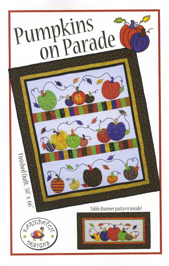 Pumpkins On Parade Pumpkin Quilt Pattern from Karie Patch Quilt Designs
