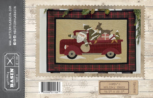 Santa's Holiday Truck Quilt Pattern from Buttermilk Basin 19.5 x 27.5 Inches